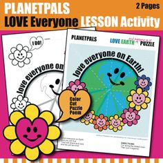 LOVE Everyone♥ Earth Inclusivity Planetpals Coloring Center Activity Poem Puzzle LOVE Everyone♥ Earth Inclusivity Planetpals Coloring Center Activity Poem Puzzle Valetnine's Interactive Activities, Color Activities, Classroom Activities, Drawing Activities, Earth Science Lessons, Friendship Activities, Valentine Activities, Holiday Activities, Valentine Crafts