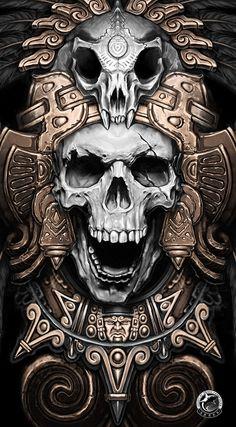 mexican skull -Teskatlipoka