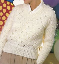 Vintage BOND Knitting Machine Pattern Instructions for Ladies Chunky Lace Jumper…
