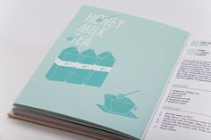 Tea-Hee Book by Jiani Lu, via Behance