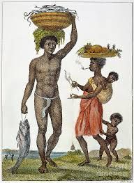 Surinamese history: A slave family most of the familys in Suriname were forced to be slaves.