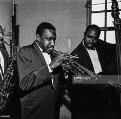 American jazz trumpeter Al Aarons (1932 - 2015), circa 1960.