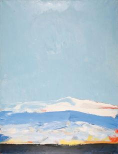 Nicolas de Stael - Landscape, Antibes, 1955, oil on canvas, 116 x 89 cm