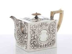 Antique Silver Teaware, silver tea sets, Victorian tea and coffee sets, silver cream and sugar