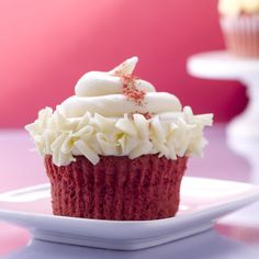 Come try our most popular cupcake the flavorful Red Velvet at The Cupcake Cupboard. #recipes #sweets #cupcakes #cupcakeideas #cupcakerecipes #food #yummy #sweet #delicious #cupcake