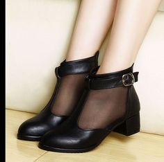 Womens Breatheable Patent Leather Oxford Flat Heel Buckles Ankle Boots Shoes