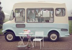 Bluebelle the vintage ice cream van, ice cream van hire UK