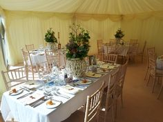 Marquee add on to dining room. Venue seats up to 200 guests with this option. Wedding Receptions, Table Settings, Dining Room, Wedding Ideas, Doors, Table Decorations, Weddings, Country, Red