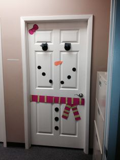 Sandy's door is the reason Andrea's door is so happy.
