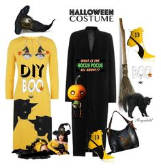 """DIY Halloween"" by ragnh-mjos ❤ liked on Polyvore featuring ESCADA, Rick Owens and Puma"