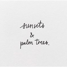These are a few of our favorite things... #sunsets #palmtrees #summer
