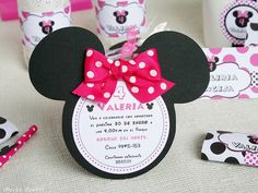 Cumpleaños Minnie Mouse para Valeria Minnie Mouse 1st Birthday, Minnie Mouse Theme, Baby Girl Birthday, 2nd Birthday, Birthday Parties, Happy Birthday, Princess Invitations, Birthday Invitations, Mini Mouse Baby Shower