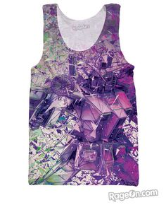 3D Transformer Limited Edition Purple All Over Print Tank Top - Rage On! - The World's Largest All-Over Print Online Retailer