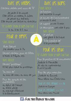 """La préposition « à » #grammaire Blog """"Le français et vous"""""""