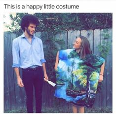 78 Of Today's Freshest Pics And Memes Bob Ross Meme, Bob Ross Quotes, Bob Ross Art, Bob Ross Halloween Costume, Bob Ross Costume, Couple Halloween, Halloween Face, Halloween Makeup, Halloween Party