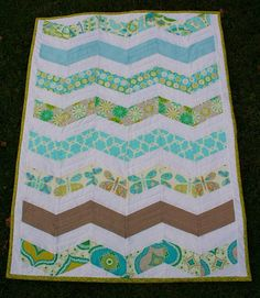 MODERN ZigZag BABY QUILT by SugarThreadz on Etsy