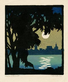 Lake Merritt (Oakland, California) by William Seltzer Rice, ca. 1925