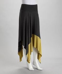 LOVE LOVE LOVE! Charcoal & Chartreuse Handkerchief Skirt by Pure Sage!