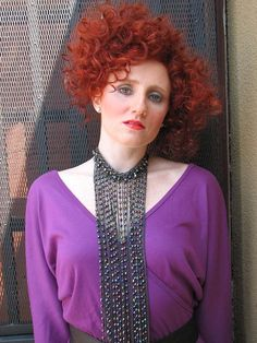 Vintage 80s disco purple jumpsuit / one piece by CrystalsCloset74, $22.00