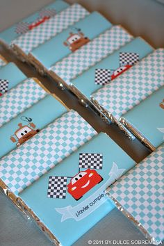 Cars Party - Candy Bars
