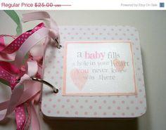 CIJ Baby Girl  Mini Scrapbook Album Baby Girl by HampshireRose, $20.00