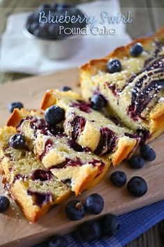 Blueberry Swirl Pound Cake #skipthehouseworkparty