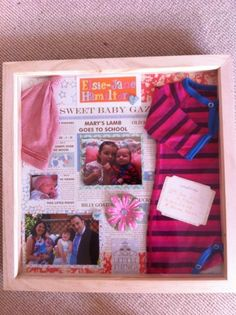 Baby shadow box I made for my goddaughter