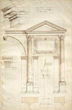 Image of Measured drawing of the Arch of Jupiter Ammon