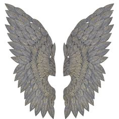 Pair of Wings Wall Decoration ($240) ❤ liked on Polyvore