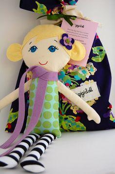 Handmade Cloth Doll Blonde with Blue Eyes My Gigi by MyGigiDoll
