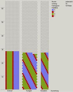 10 around tubular bead crochet diagram.