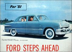 Ford Steps Ahead with Fordomatic Drive . . . and 43 'Look Ahead