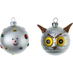 Alessi Fioccodineve e Uffoguffo Weihnachtsbaumkugeln Set 2 Stück Halloween Christmas, Christmas Home, Christmas Holidays, Christmas Trees, Glass Christmas Baubles, Christmas Tree Decorations, Owl Home Decor, Owl House, Jewel Colors