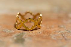 Eastern zelij ring 24ct gold plated sterling by FleurCaroline