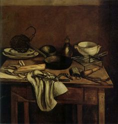 The still life in the kitchen table, Andre Derain