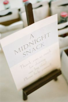 midnight snack wedding