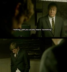 "Endeavour. ""nothing"" with you usually means ""something""   Oh Sergeant. <3"
