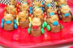 Race Car Teddy Grahams Cute idea!!