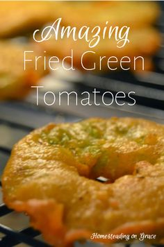 Tomato Recipes A recipe for chowing down on some fried green tomatoes! - A recipe for chowing down on some fried green tomatoes! Fried Green Tomatoes Recipe Easy, Green Tomato Recipes, Fried Tomatoes, Green Tomato Pie, Whistle Stop Fried Green Tomatoes Recipe, Side Dish Recipes, Vegetable Recipes, Vegetarian Recipes, Cooking Recipes