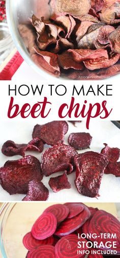 Learning how to make beet chips is super simple and a great way to enjoy beets if you don't like them roasted or fresh! These beet chips are made with coconut oil, so you can enjoy them guilt free!