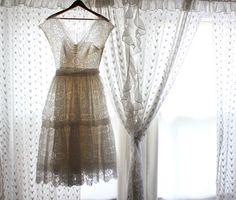 1950s lace wedding dress. Beautiful dress.