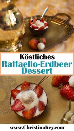 Rezept Idee: Fruchtiges Raffaello Erdbeer Dessert mit essbarer Schokoladen Schale - Das Sommer Dessert für Groß & Klein! -> // Jetzt weitere Rezept Ideen, Outfits und tolle Tipps zur Fotografie und dem Thema Bloggen auf www.CHRISTINAKEY.com entdecken - dem Lifestyle und Fotografie Blog aus Berlin