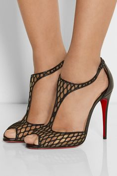 Christian Louboutin | Tiny 100 leather and lace sandals