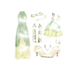 """Princess Tiana"" by rubysal ❤ liked on Polyvore featuring Saloni, L. Erickson, Charlotte Russe, Kendra Scott, PrincessTiana and twotonedress"