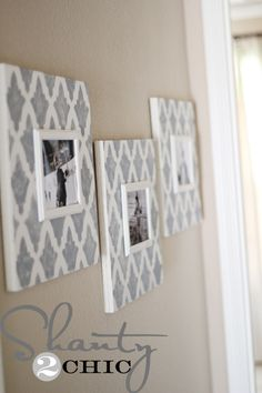 EASY DIY Photo Frames. Gonna try these for sure.  Debating between wood and canvas... love her blog though--I've done a few of her projects.