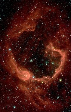 RCW 79, an emission nebula in Centaurus. Credit:NASA/Hubble. RCW 79 is an emission nebula, a star-forming region of about 70 light-years across that lies some 17,200 light-years from Earth in the southern constellation of Centaurus.
