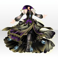 Witch who Reels Thread Cute Fashion, Fashion Art, Blue Avatar, Chibi Hair, Witch Outfit, Queen Outfit, Short Wavy Hair, Anime Dress, Cocoppa Play