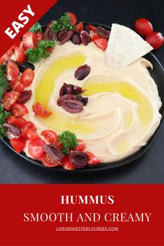Authentic Lebanase hummus is smooth, creamy, and soooo easy to make! You will notice the difference of authentic hummus immediately, and want more! It just takes a few more minutes of preparation time to get the texture right! #hummus #plantbased #vegan #lebanase #dip
