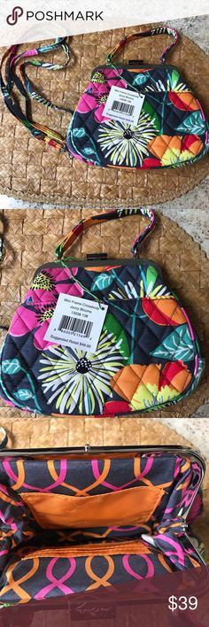 Vera Bradley Jazzy Blooms Crossbody Coinpurse Vera Bradley Jazzy Blooms Crossbody Coinpurse. Style: Jazzy Blue. Brand New with tags. Never used.  Great when you need something to hold the essentials, has card slots. Matches my other Jazzy Bloom items.  Style #21 Vera Bradley Bags Crossbody Bags