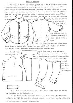 Period uniform patterns - Armchair General and HistoryNet >> The Best Forums in History French Gillet again around 1812 from the Bardin regulations I think, a kind of stable jacket used by both cavalry and infantry in variying colours, Historical Costume, Historical Clothing, Vintage Knitting, Vintage Sewing, Clothing Patterns, Sewing Patterns, Military Costumes, Patterned Armchair, 8bit Art